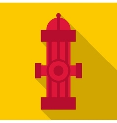 Fire column icon flat style vector