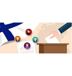 Finland democracy political process selecting vector