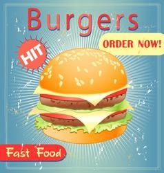 tasty burger vector image