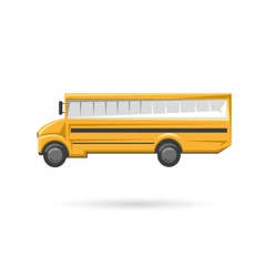 School bus isolated on a white backgrounds vector