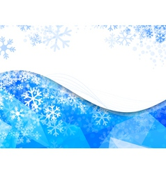 Wavy frame with snowflakes vector