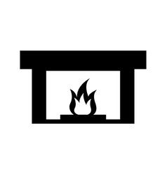 Fireplace chimney flame indoor decoration vector