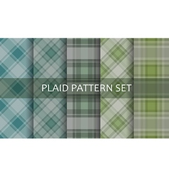 Plaid patterns set vector