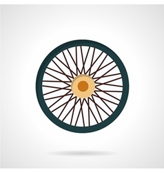 Flat color icon for bike wheel vector