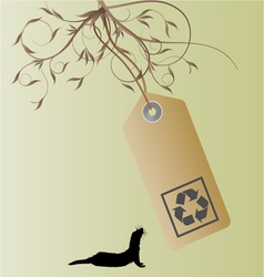 recycle tag vector image