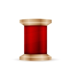 Spool of red thread vector