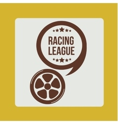 racing league design vector image