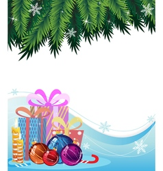 Christmas presents and decorations vector