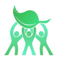 Teamwork Eco Friendly Logo vector image