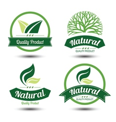 eco label 5 vector image