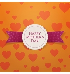 Happy mothers day realistic holiday banner vector