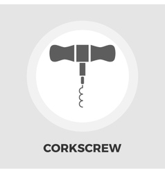 Corkscrew flat icon vector