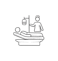 Nursing care sketch icon vector