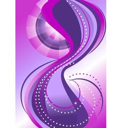 Abstract pattern bands of circles vector image vector image