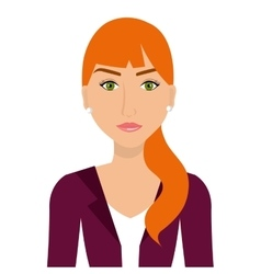 Beautiful and elegant young woman vector