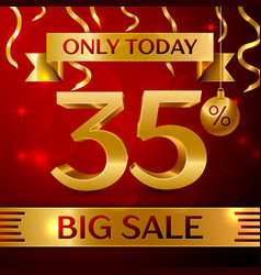 Big sale thirty five percent for discount vector