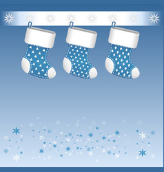 Blue christmas boots vector