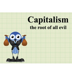 Capitalism root of evil vector