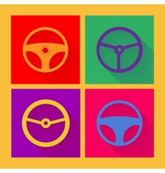 Car wheel icon in flat style vector