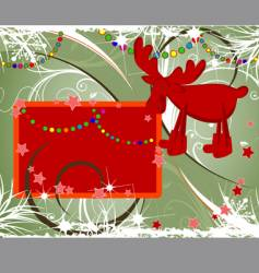 Christmas theme with deer vector image vector image