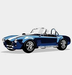Classic sport blue car AC Shelby Cobra Roadster vector image