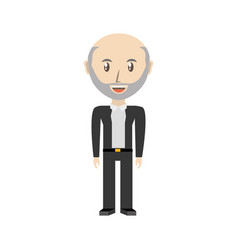 Cute grandfather cartoon vector