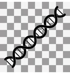 DNA symbol Flat vector image vector image