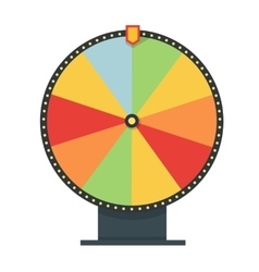 Fortune wheel in flat style blank template game vector