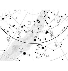 Fragment of astronomical celestial atlas vector