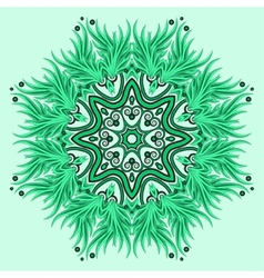 Mandala ornament in green colors vector image