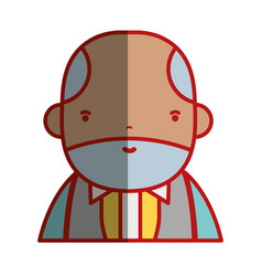 Nice businessman with elegant clothes and kawaii vector