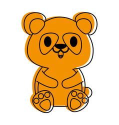 panda bear cute animal cartoon icon image vector image vector image