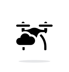 Quadcopter in sky simple icon on white background vector