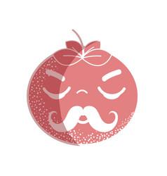 Silhouette kawaii nice sleeping tomato vegetable vector
