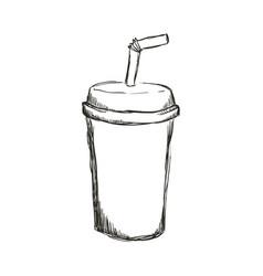 soda plastic cup vector image vector image