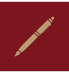 The ballpoint pen icon Pen symbol Flat vector image