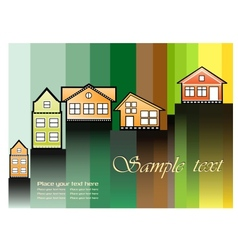 The houses vector image
