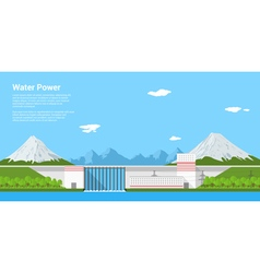 water power vector image