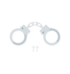 Bdsm handcuffs bondage element to immobilize vector