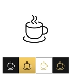 Coffee cup steam mug icon vector