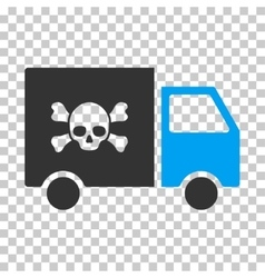Toxic transportation car eps icon vector
