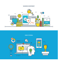 Business investments management education vector