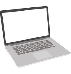 Laptop vector image