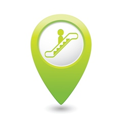 escalator icon green map pointer4 vector image