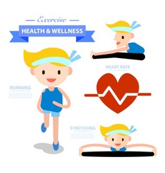 Exercise health and wellness infographic vector