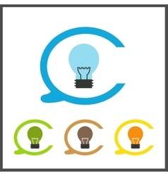 Simple stylish icon bulb electro design vector