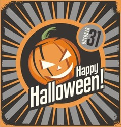 Halloween card template vector