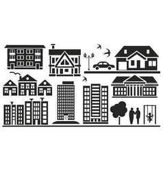 Multi storey buildings vector