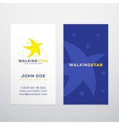 Walking Star Abstract Business Card vector image