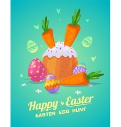 Set of easter food cute cartoons vector